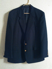 Jeffrey Banks men's sport coat/blazer, size 46 R, poly/wool, 2 button, black