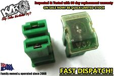 2 X Holden GM Green 2 Pin Automotive Fusible Link - 12v 40a Universal Fuse - KLR