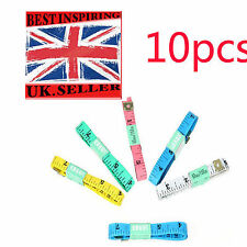 """10 X1.5M 60"""" FLAT TAPE MEASURE FOR TAILOR SEWING CLOTH SOFT BODY MEASURING RULER"""