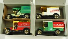 Collector's Set of 4 Classic Trucks Tanker Water Wagon Ambulance Van in Box