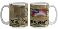 US Army Personalized Officer Mug|Major (O4) Army Gift for Dad/Mom/Son/Daughter