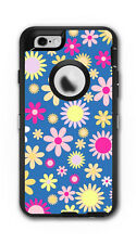 Skin Decal Wrap for OtterBox Defender Case Iphone 6/6S Flowers Pink Pattern