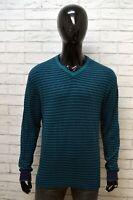 Maglione a Righe Uomo LEE Taglia XL Pullover Caldo Cotone Cardigan Felpa Sweater