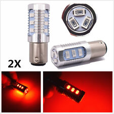 2Pcs 1157 LED Blinking Car Truck Rear Alert Safety Brake Tail Stop Light Bulbs