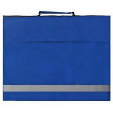 Royal Blue Euro A4 Book Bag Junior School Conference Bag High Visibility Stripe