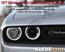 NEW Dodge Challenger Demon Logo Headlight Decals Vinyl Sticker Mopar SRT Hellcat