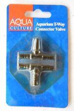 New listing Aqua Culture Aquarium T-Way Connector Valve