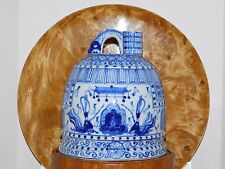 Porcelain Blue & White Japanese 19th c. Temple Bell Dedication Inscription