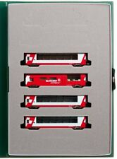 New Kato N scale 10-1146 Rhaetian Railway Alps Glacier Express Add-On 4-Car Set