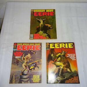 1970s Eerie Comic Magazine Pair  #90 95 GC-VGC  2 Mags