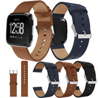 Genuine Leather Wrist Watch Band for Fitbit Versa Replacement Watch Band Strap