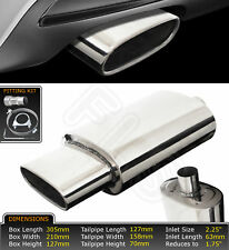 UNIVERSAL T304 STAINLESS STEEL PERFORMANCE EXHAUST BACKBOX - LMS-004 – BMW 2