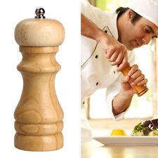 Wooden Salt Pepper Mills Spice Grinders Shaker Pots Natural Rubber Wooden Tool