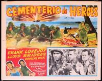 L015 HOME OF THE BRAVE Mexican lobby card R55 Lloyd Bridges, WWII