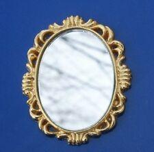 Wall Mirror Miniature Dollhouse Oval Mirror 1:12 Scale New