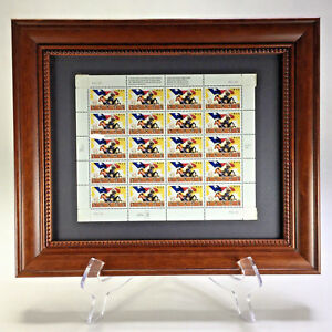 Framed Sheet of 20 150th Anniversary of Texas Statehood Stamps 1995