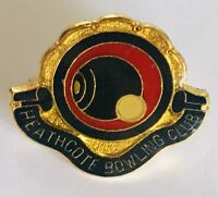 Heathcote Bowling Club Badge Pin Rare Vintage (L16)