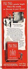 Pall Mall Non Filtered Cigarettes 14x4 Paper Ad Tavern Trove