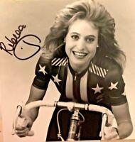 Autographed Postcard & COA Olympian Rebecca Twigg US Cyclist Medalist