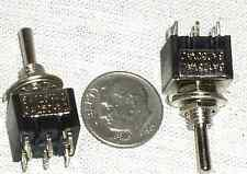 2 MINI AC DC PROJECT TOGGLE DPDT ON-OFF-ON SWITCH 125 VAC 6A 6 A CENTER OFF SW