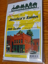 "Smalltown USA HO #699-6003 Jessica's Salon 4-3/4 x 2-3/4"" 11.9 x 6.9cm"