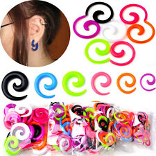 Mix Colors 12pcs Punk Acrylic Spiral Taper Ear Plugs Expander Stretcher Piercing