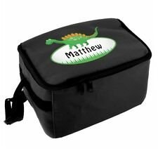 PERSONALISED Kids School Pack Lunch Bag - Boys DINOSAUR Packed Lunch Dinner Box