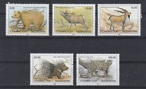 7365 Tadschikistan Tiere 22-26  postfrisch  (611)