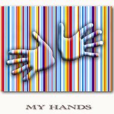 ☆MY HANDS☆ Leinwand auf Keilrahmen moderne Kunst Bilder Wandbilder limiteirt ART