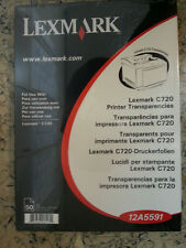 Lexmark C720 Drucker Folien Transparencies DINA 4, OVP 50 Stück