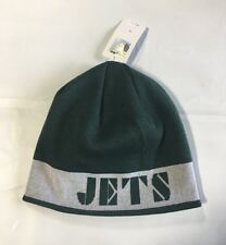 New York Jets Knit Beanie Winter Hat Toque Skull Cap NEW Block reversible