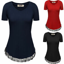 Unbranded Embellished Tee Cotton Blend T-Shirts for Women
