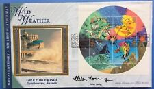 Benham 13.3.2001 Weather FDC Signed by HELEN YOUNG, Weather Presenter, Zig -Zag