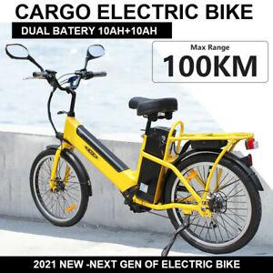 TDR HEAVY DUTY CARGO ELECTRIC BIKE DOUBLE BATTERY LONG RANGE EBIKE 20AH E-BIKE