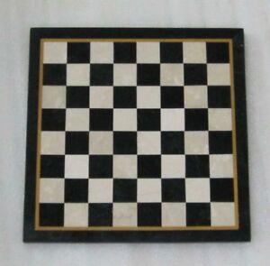 "18"" Chess Table top semi precious stones work marquetry inlay handmade art"