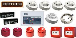 All-In-One 2 Zone Fire Alarm Conventional Kit - C-TEC Panel & Apollo Detectors