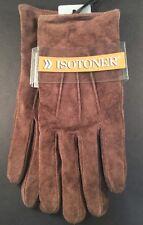 ISOTONER  Gloves Women's Size LG Genuine Dark Brown Leather NWT