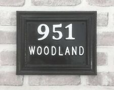 Contemporary House Sign Plaque Number Plate Custom Made Address Door Name Metal