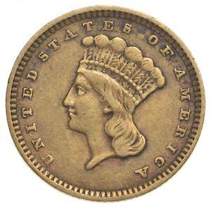 1857 $1 Indian Princess Head Gold - U.S. Gold Coin *074