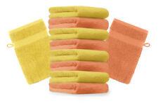 """10er Pack Waschhandschuhe """"Premium"""" Farbe: Orange & Gelb, Größe: 17x21 cm"""