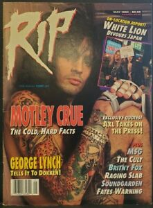 RIP Magazine - May 1990 TOMMY LEE MOTLEY CRUE COVER VINTAGE VG