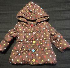 Gymboree Girl Polka Dot Puffer Coat Size 12-24