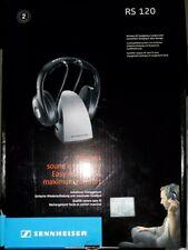 Sennheiser On Ear Wireless Headphones With Charging Dock RS120 in Box VG fr/shp