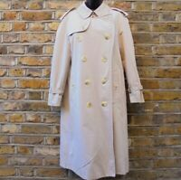 Burberry Of London Men's Beige Trench Coat Duster Nova Check Size 44 Short