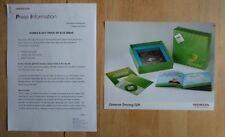 HONDA CIVIC HYBRID & Eco Ideas orig 2005 UK Mkt Press Release + Photo - Brochure