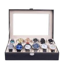 Jewelry Case Watches Holder 6/10 Slots Storage Portable Display Box