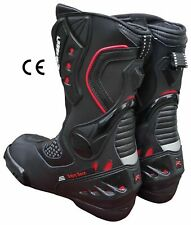 Stivali Moto Racing Pista Strada BIESSE CE 39 40 41 42 43 44 45 46 IMPERMIABILI