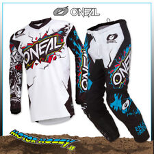 COMPLETO CROSS ENDURO O'NEAL ONEAL ELEMENT VILLAIN WHITE 2019 TAGLIA 32--M