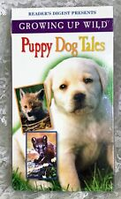 Reader's Digest Growing Up Wild Happy Dog Tails VHS Movie NWT Kids and Family
