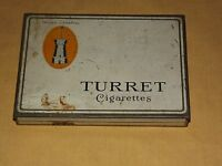 VINTAGE TOBACCO TURRET VIRGINIA  CIGARETTES    TIN